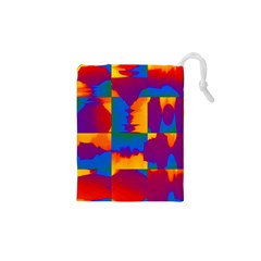 Gay Pride Rainbow Painted Abstract Squares Pattern Drawstring Pouch (xs) by VernenInkPride