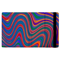 Gay Pride Rainbow Wavy Thin Layered Stripes Apple Ipad Pro 12 9   Flip Case by VernenInkPride