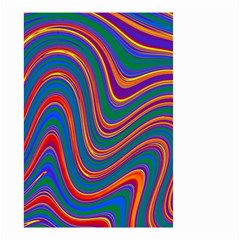 Gay Pride Rainbow Wavy Thin Layered Stripes Small Garden Flag (two Sides) by VernenInkPride