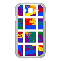 Gay Pride Rainbow Abstract Painted Squares Grid Samsung Galaxy Grand Duos I9082 Case (white) by VernenInkPride