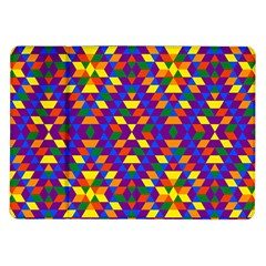 Gay Pride Geometric Diamond Pattern Samsung Galaxy Tab 10 1  P7500 Flip Case by VernenInkPride