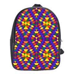Gay Pride Geometric Diamond Pattern School Bag (xl)