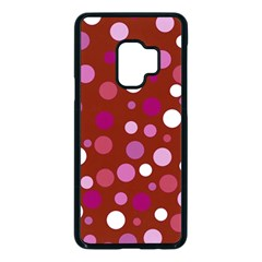 Lesbian Pride Flag Scattered Polka Dots Samsung Galaxy S9 Seamless Case(black) by VernenInkPride