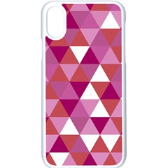 Lesbian Pride Alternating Triangles Iphone Xs Seamless Case (white) by VernenInkPride