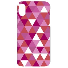 Lesbian Pride Alternating Triangles Iphone Xr Black Uv Print Case by VernenInkPride