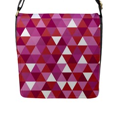 Lesbian Pride Alternating Triangles Flap Closure Messenger Bag (l) by VernenInkPride