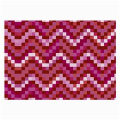 Lesbian Pride Pixellated Zigzag Stripes Large Glasses Cloth (2 Sides)