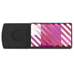 Lesbian Pride Diagonal Stripes Colored Checkerboard Pattern Rectangular Usb Flash Drive by VernenInkPride