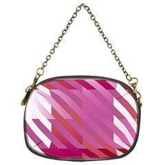 Lesbian Pride Diagonal Stripes Colored Checkerboard Pattern Chain Purse (two Sides)