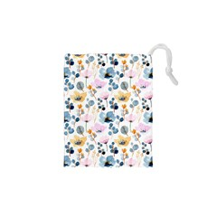Watercolor Floral Seamless Pattern Drawstring Pouch (xs) by TastefulDesigns