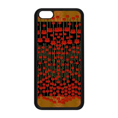 Summer  Flowers In A Floral Jungle Ornate Iphone 5c Seamless Case (black) by pepitasart