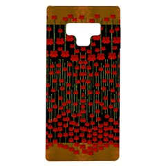 Summer  Flowers In A Floral Jungle Ornate Samsung Galaxy Note 9 Tpu Uv Case by pepitasart
