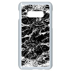 Black And White Abstract Textured Print Samsung Galaxy S10e Seamless Case (white)