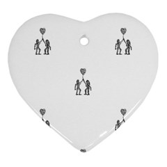 Love Symbol Drawing Heart Ornament (two Sides)