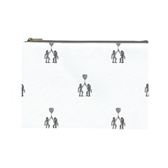 Love Symbol Drawing Cosmetic Bag (large)