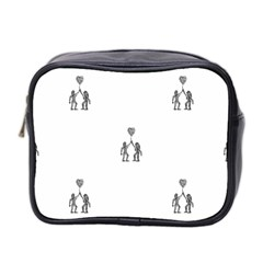 Love Symbol Drawing Mini Toiletries Bag (two Sides)