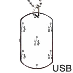 Love Symbol Drawing Dog Tag Usb Flash (one Side)
