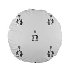 Love Symbol Drawing Standard 15  Premium Round Cushions