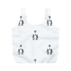 Love Symbol Drawing Full Print Recycle Bag (m)