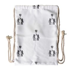 Love Symbol Drawing Drawstring Bag (large)