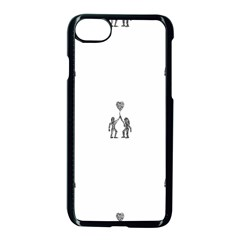 Love Symbol Drawing Iphone 8 Seamless Case (black)