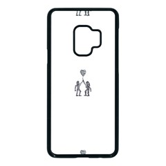 Love Symbol Drawing Samsung Galaxy S9 Seamless Case(black)