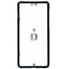 Love Symbol Drawing Samsung Galaxy S10 Seamless Case(black)