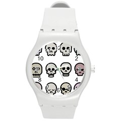 Avatar Emotions Icon Round Plastic Sport Watch (m)