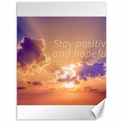 Stay Positive And Hopeful Motivational Background Photo Canvas 36  X 48
