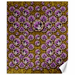 Gold Plates With Magic Flowers Raining Down Canvas 20  X 24  by pepitasart