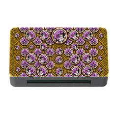 Gold Plates With Magic Flowers Raining Down Memory Card Reader With Cf by pepitasart