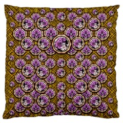Gold Plates With Magic Flowers Raining Down Standard Flano Cushion Case (one Side) by pepitasart