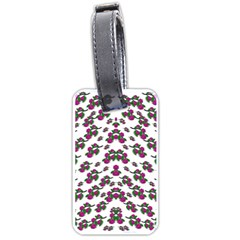 Sakura Blossoms On White Color Luggage Tag (two Sides) by pepitasart