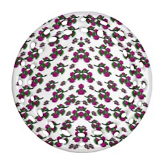 Sakura Blossoms On White Color Ornament (round Filigree) by pepitasart