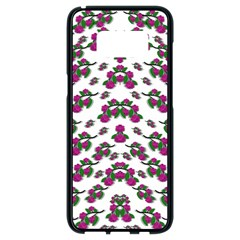 Sakura Blossoms On White Color Samsung Galaxy S8 Black Seamless Case by pepitasart