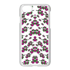 Sakura Blossoms On White Color Iphone 8 Seamless Case (white) by pepitasart