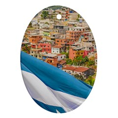 Santa Ana Hill, Guayaquil Ecuador Oval Ornament (two Sides)