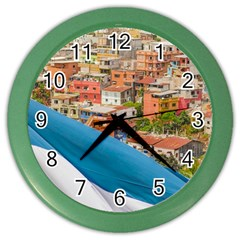 Santa Ana Hill, Guayaquil Ecuador Color Wall Clock
