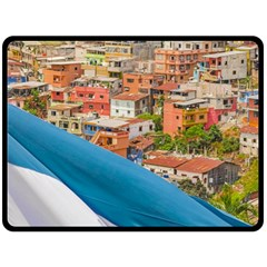 Santa Ana Hill, Guayaquil Ecuador Fleece Blanket (large)