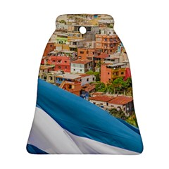 Santa Ana Hill, Guayaquil Ecuador Ornament (bell) by dflcprintsclothing