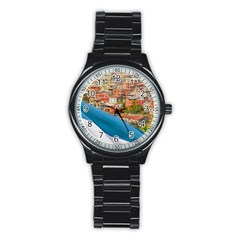 Santa Ana Hill, Guayaquil Ecuador Stainless Steel Round Watch
