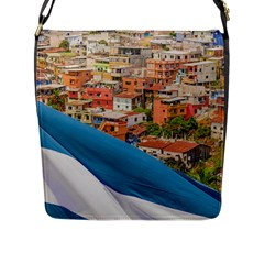 Santa Ana Hill, Guayaquil Ecuador Flap Closure Messenger Bag (l)