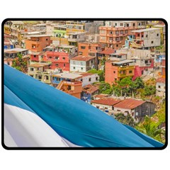 Santa Ana Hill, Guayaquil Ecuador Double Sided Fleece Blanket (medium)