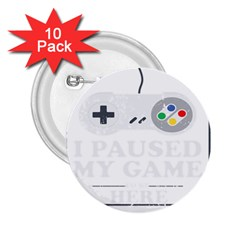 Ipaused2 2 25  Buttons (10 Pack)