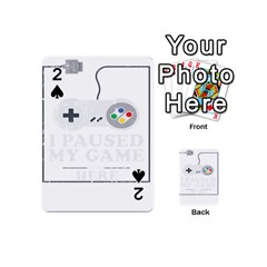 Ipaused2 Playing Cards 54 Designs (mini) by ChezDeesTees