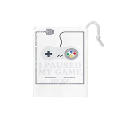 Ipaused2 Drawstring Pouch (small)
