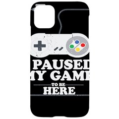 Ipaused2 Iphone 11 Black Uv Print Case by ChezDeesTees
