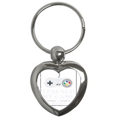 I Had To Pause My Game To Be Here Key Chain (heart) by ChezDeesTees