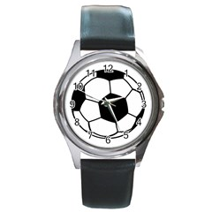 Soccer Lovers Gift Round Metal Watch by ChezDeesTees