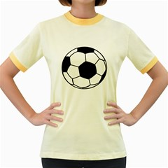 Soccer Lovers Gift Women s Fitted Ringer T-shirt by ChezDeesTees